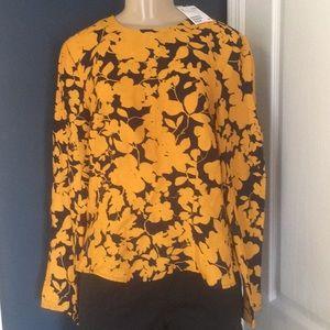 NWT beautiful H&M print blouse size 14